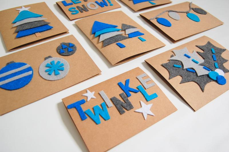 C mo hacer postales de navidad con tus hijos ed kame - Como realizar tarjetas navidenas ...