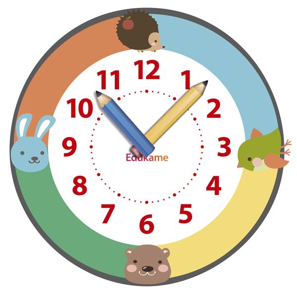 Un reloj infantil para aprender las horas ed kame for Imagenes de relojes