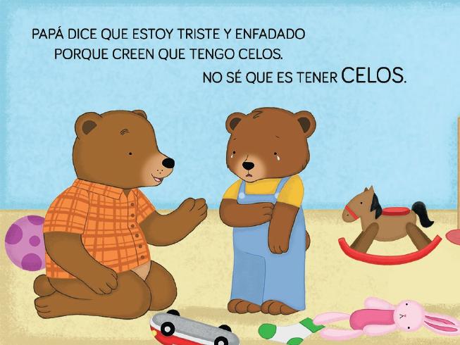 papá oso ayuda a BIBO a superar los celos