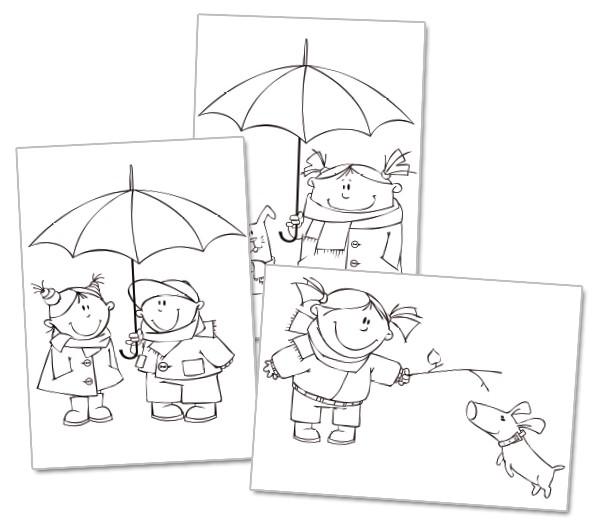 Dibujos para colorear. Invierno | Edúkame