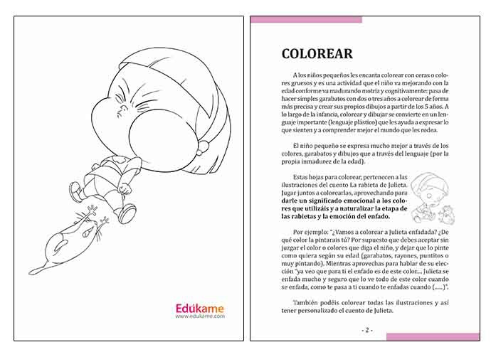 Láminas Para Colorear Las Rabietas Edúkame