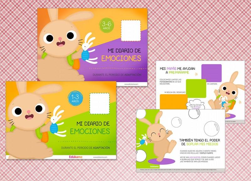 Cuadernos para educar las emociones durante la Adaptación escolar