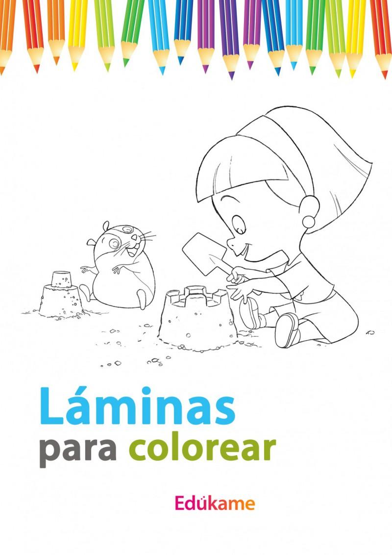L minas para colorear las rabietas ed kame - Laminas infantiles para enmarcar ...