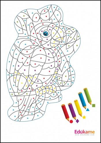 Imprimible lámina para colorear: El loro | Edúkame