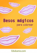 """Juegos y actividades """"Besos para colorear"""""""
