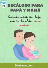 "Póster ""Decálogo para papá y mamá"""