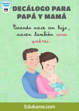 """Juegos y actividades """"Decálogo para papá y mamá"""""""