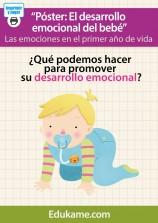 """Póster """"Desarrollo emocional del bebé"""""""