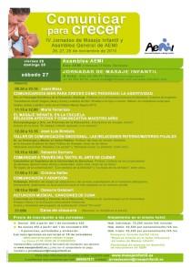 Masaje infantil en las Jornadas de Comunicar para Crecer