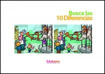 Imprimible Encuentra las 10 diferencias en el Zoo