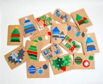 Cómo hacer postales de navidad con tus hijos
