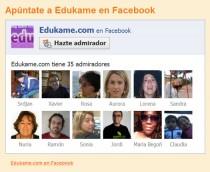 Edukame.com tiene página en Facebook