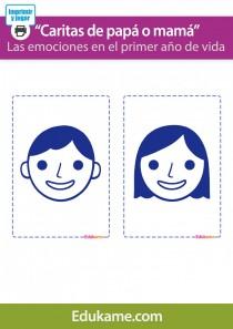 """Fichas """"Caritas de mamá y papá"""""""