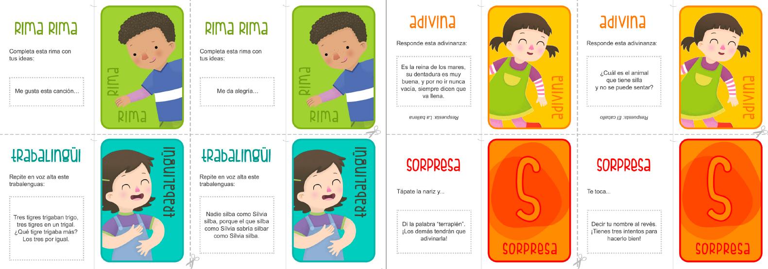 tarjetas del lingüi lingüi