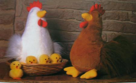gallinas y pollitos de peluche Construye tus propios peluches