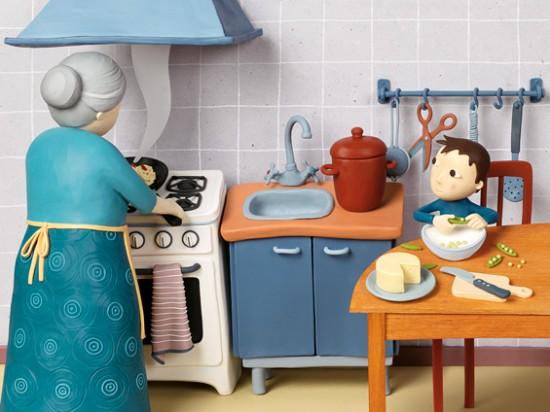 cocina Jugar, dibujar y animar con plastilina
