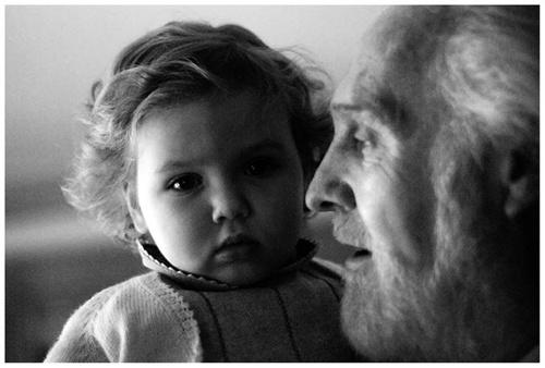 abuelo y  su nieta