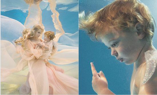 bajo el agua Geniales fotos de bebés y niños bajo el agua