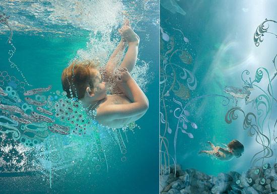 Geniales fotos de beb s y ni os bajo el agua ed kame for Imagenes de hoteles bajo el agua