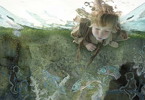 niño bajo el agua Geniales fotos de bebés y niños bajo el agua