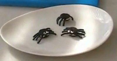 Arañas hechas con galletas