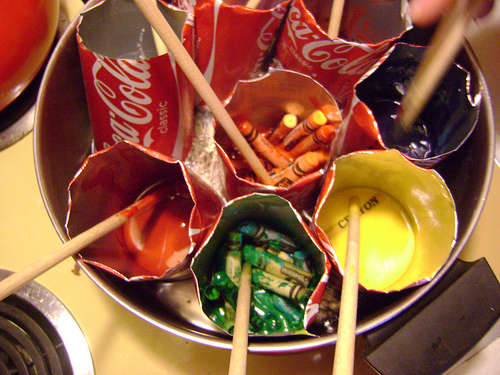Reciclar las ceras de colores rotas edukame - Colores para reciclar ...