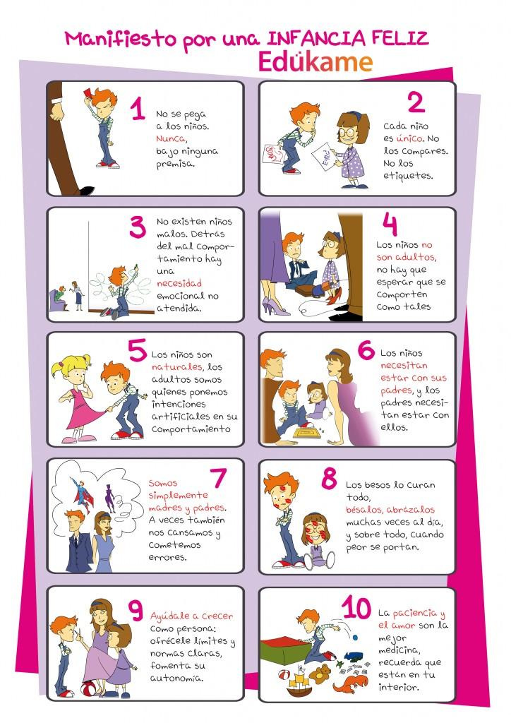 cartel lila manifiesto por una infancia feliz 724x1024 Manifiesto Edukame