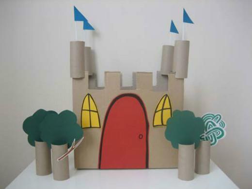 C mo hacer un castillo de cart n ed kame for Como hacer artesanias en casa