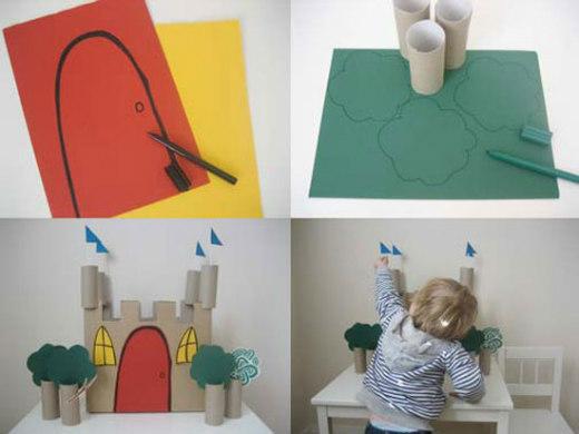 C mo hacer un castillo de cart n ed kame - Como hacer un arbol de papel grande ...
