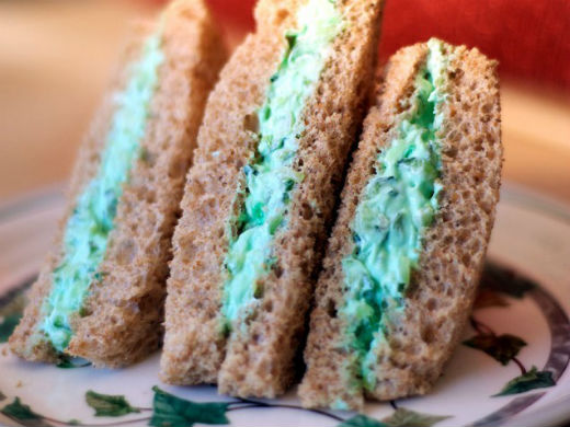 Sandwich de queso verde