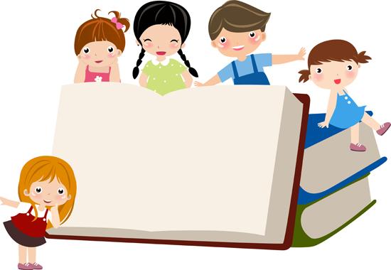 Dibujo infantil libros para el cole